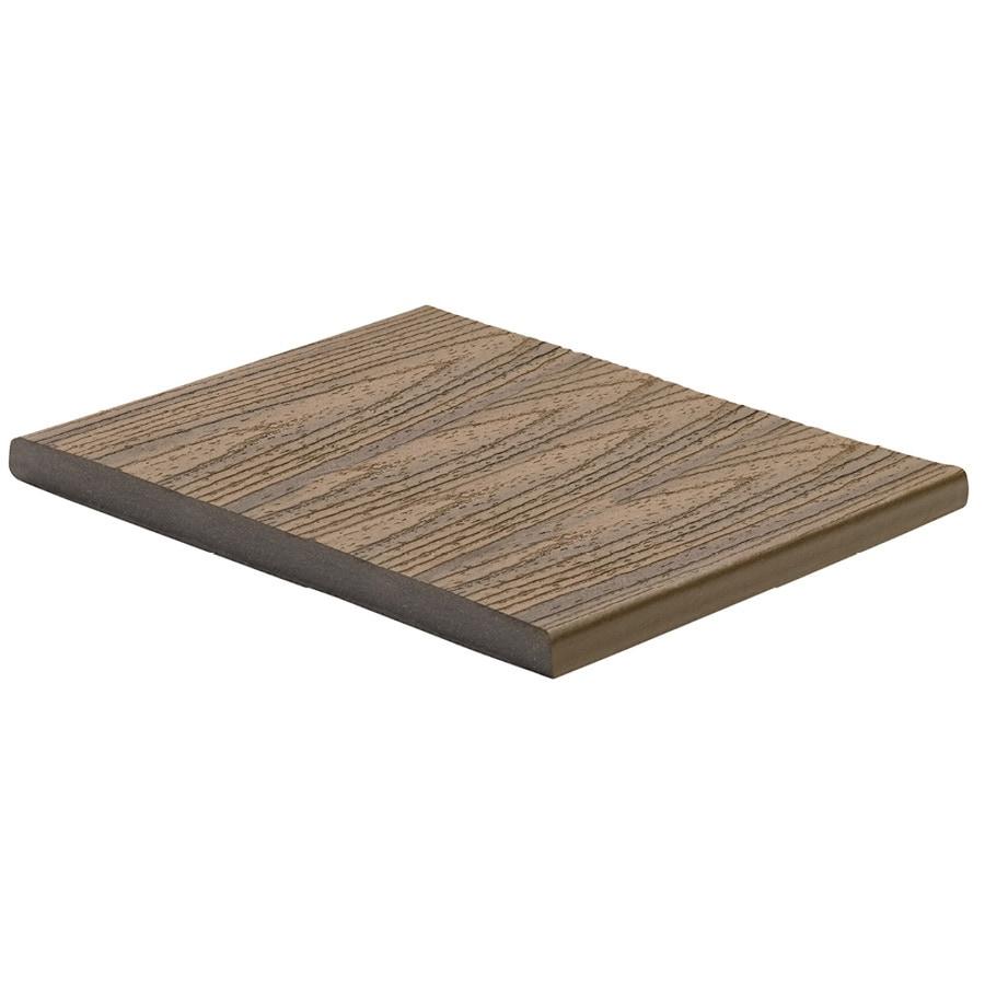 Trex Transcend Havana Gold Composite Deck Board (Actual: 0.75-in x 11.25-in x 12-ft)