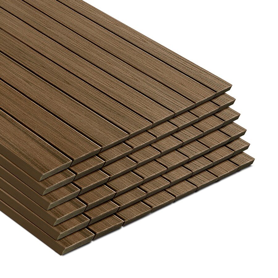 Trex Transcend Havana Gold Composite Deck Board (Actual: 0.94-in x 5.5-in x 12-ft)