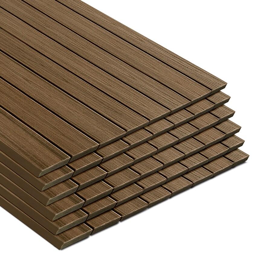 Trex Transcend Havana Gold Composite Deck Board (Actual: 0.94-in x 5.5-in x 16-ft)