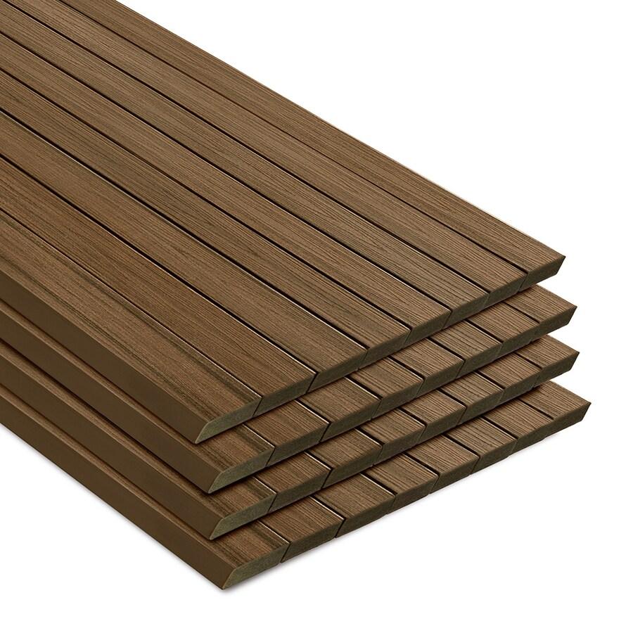 Trex Transcend Havana Gold Composite Deck Board (Actual: 1.3-in x 5.5-in x 12-ft)