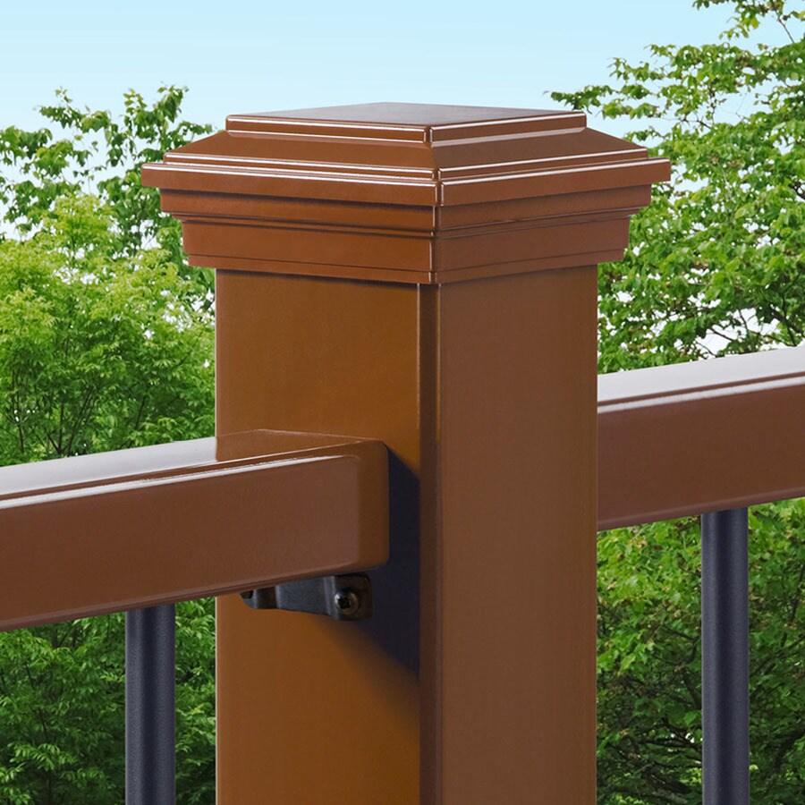 Trex Saddle Composite Deck Post Cap (Fits Common Post Measurement: 4-in x 4-in; Actual: 4.55-in x 4.55-in x 2.35-in)