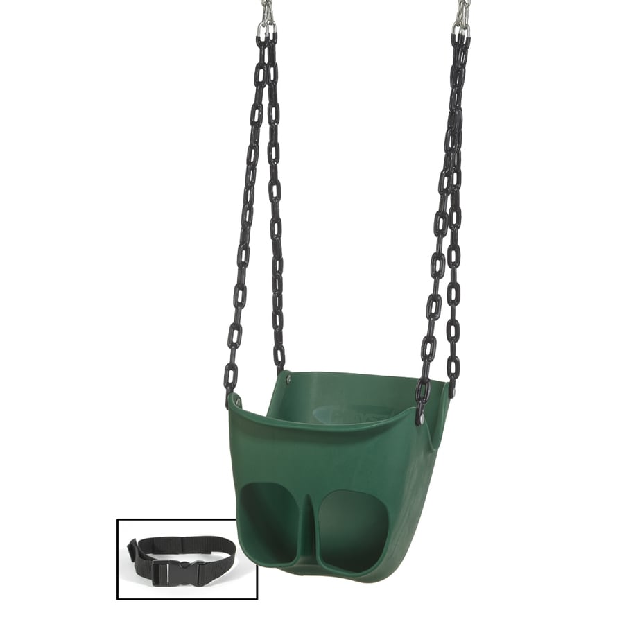 PlayStar Commercial Grade Green and Black Infant Swing