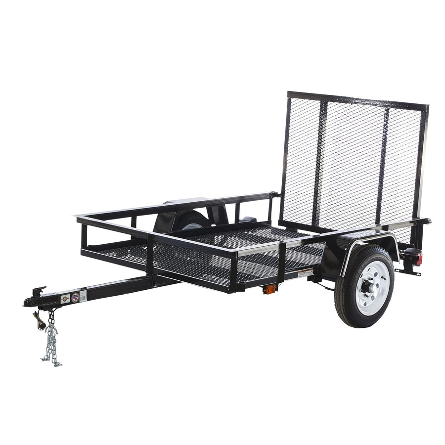 Carry-On Trailer 4-ft x 6-ft Wire Mesh Utility Trailer with Gate
