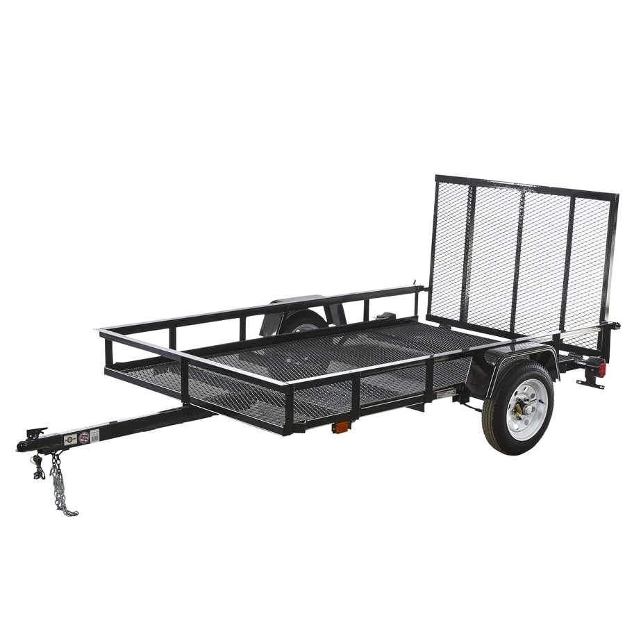 Carry-On Trailer 5-ft x 8-ft Wire Mesh Utility Trailer with Gate