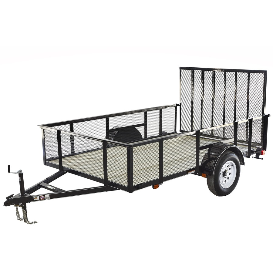 Carry-On Trailer 6-ft x 10-ft Treated Lumber Utility Trailer with Gate