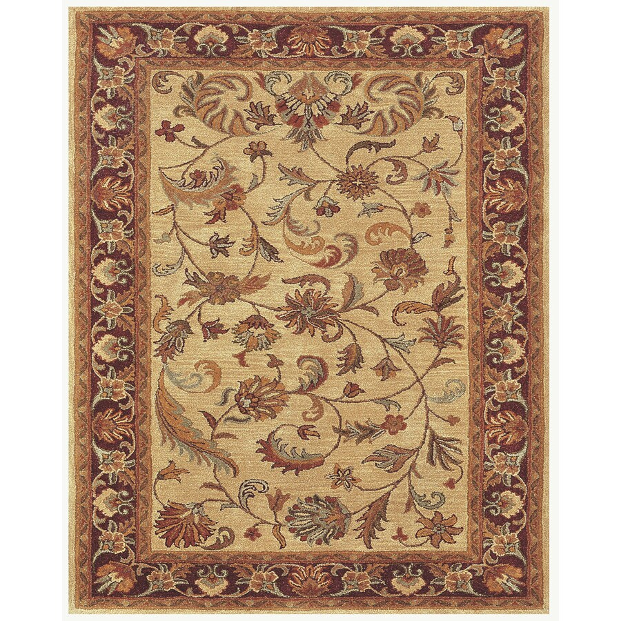 Wakefield Ivory Red Rectangular Indoor Tufted Oriental Throw Rug (Common: 2 x 3; Actual: 24-in W x 36-in L)