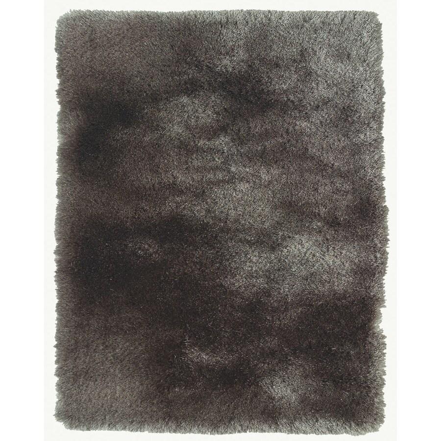 Isleta Gray Rectangular Indoor Tufted Throw Rug (Common: 2 x 3; Actual: 24-in W x 40-in L)