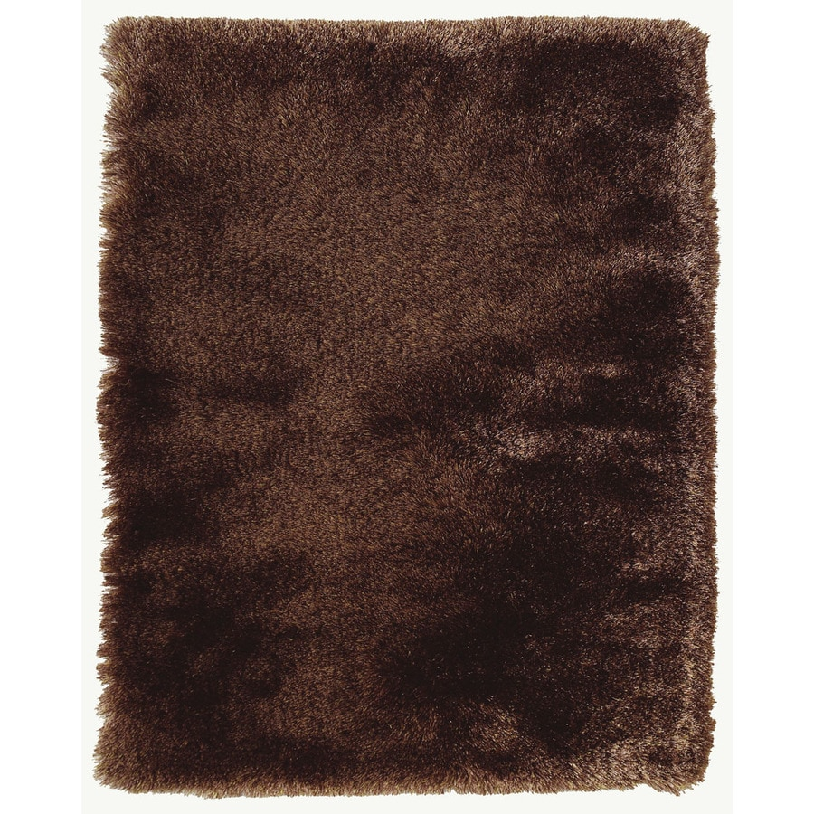 Isleta Dark Brown Rectangular Indoor Tufted Area Rug (Common: 4 x 6; Actual: 42-in W x 66-in L)