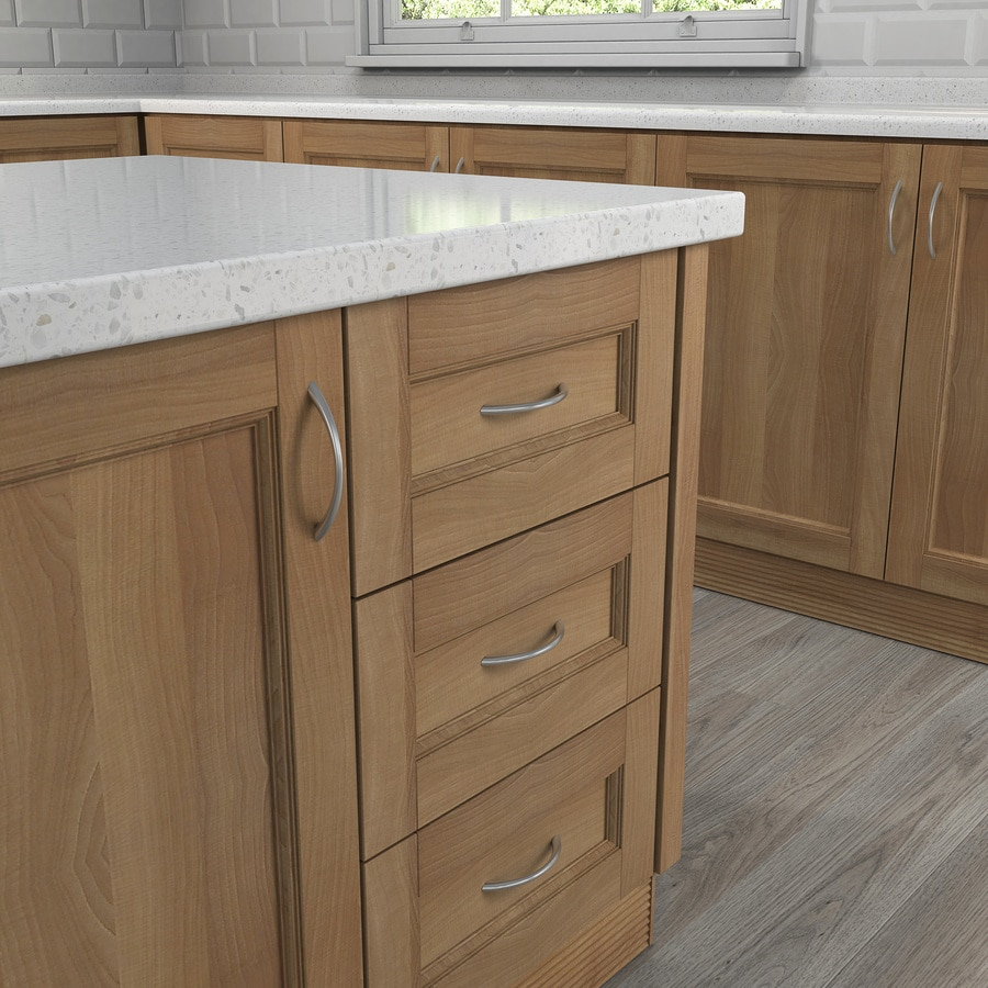 Style Selections 96mm Center-to-Center Satin Nickel Arched Cabinet Pull