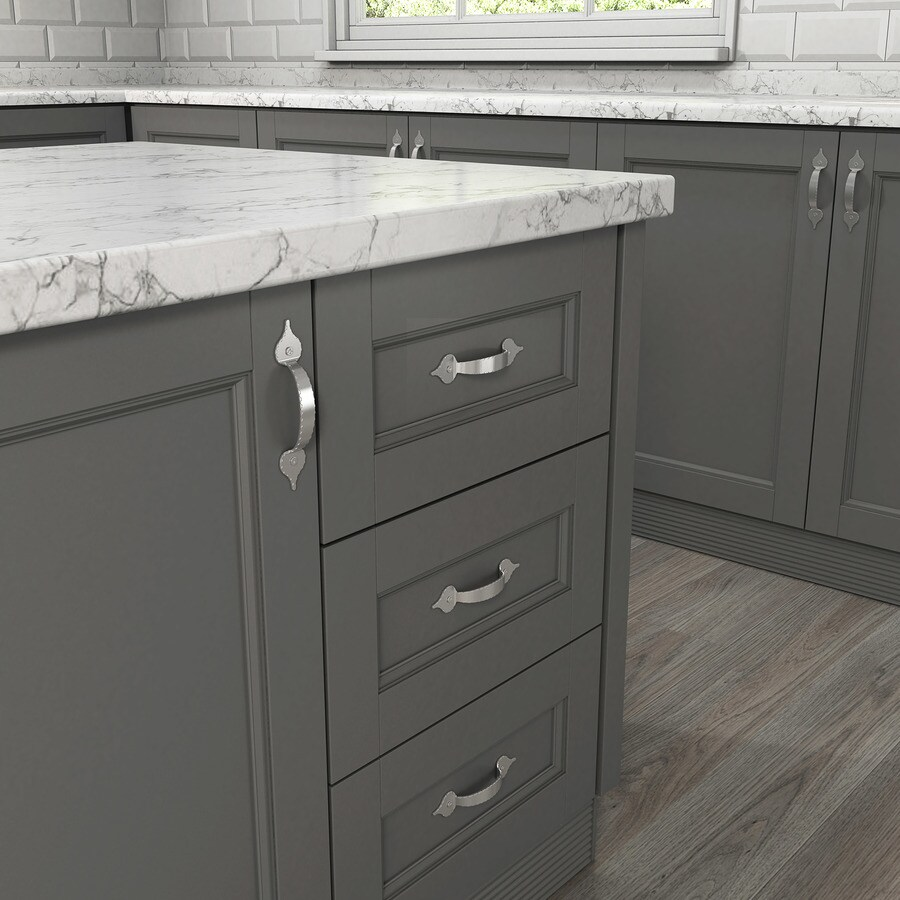 Style Selections 82mm Center-to-Center Satin Nickel Arched Cabinet Pull