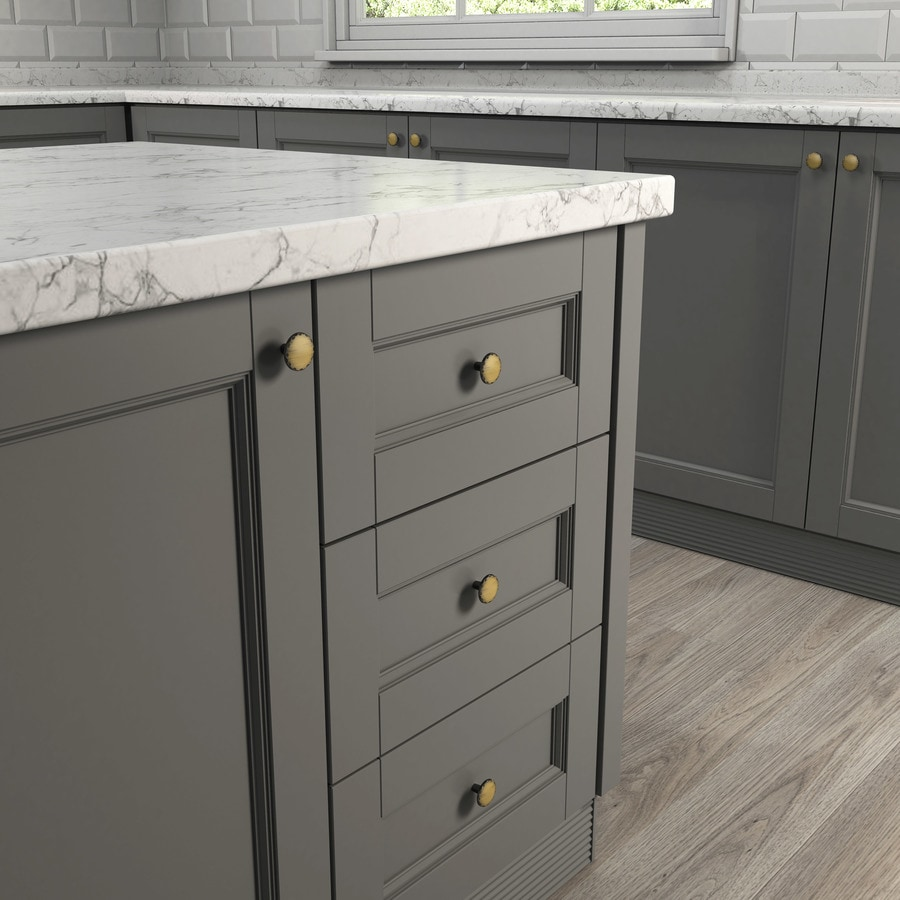 Shop Style Selections Antique Brass Round Cabinet Knob At