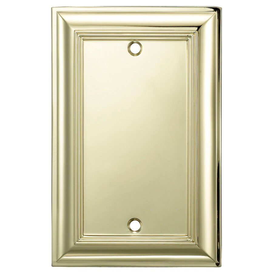allen + roth 1-Gang Polished Brass Blank Wall Plate