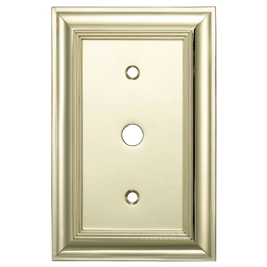 allen + roth 1-Gang Polished Brass Wall Plate