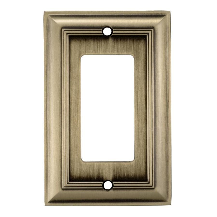 allen + roth 1-Gang Antique Brass Decorator Rocker Metal Wall Plate