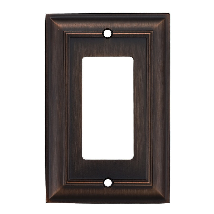 Shop Allen Roth 1 Gang Oil Rubbed Bronze Decorator Wall