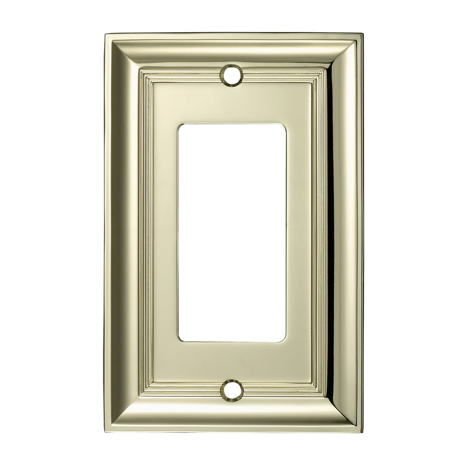 allen + roth 1-Gang Polished Brass Decorator Wall Plate