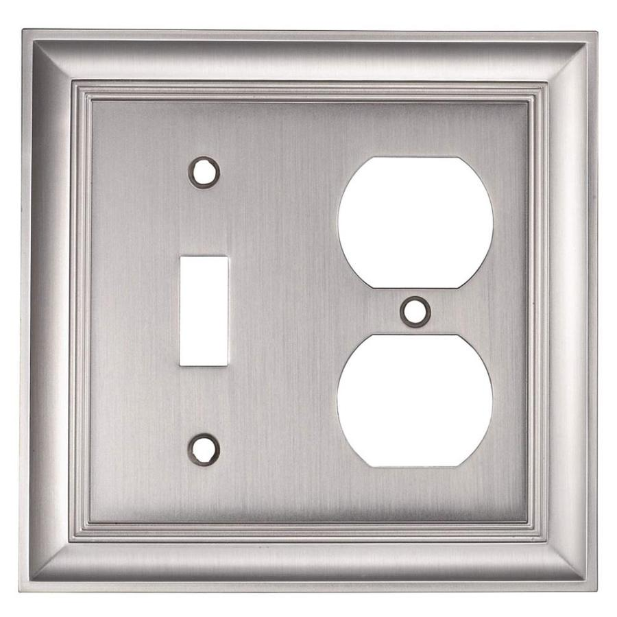 allen + roth 2-Gang Satin Nickel Wall Plate