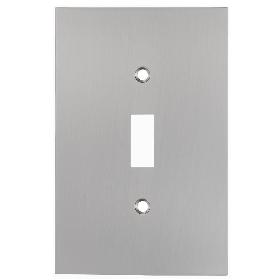 allen + roth 1-Gang Satin Nickel Toggle Wall Plate