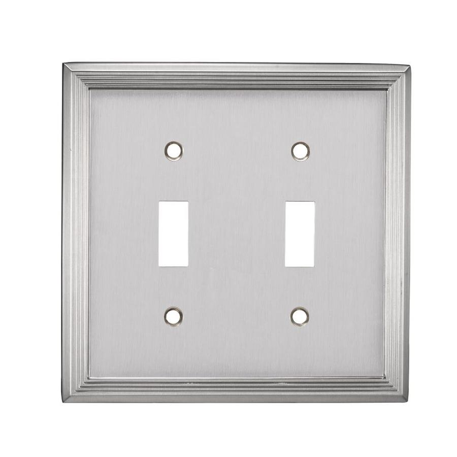 allen + roth 2-Gang Satin Nickel Toggle Wall Plate