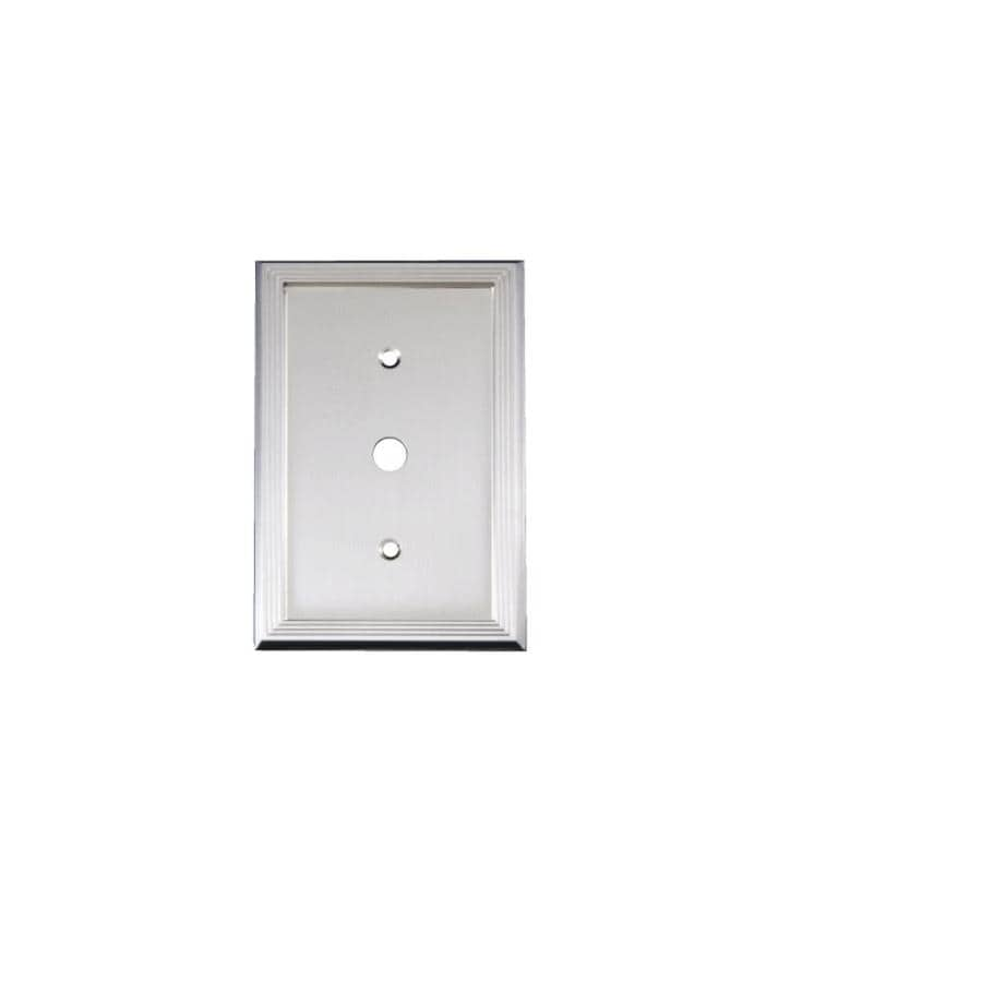 allen + roth 1-Gang Nickel Coaxial Wall Plate