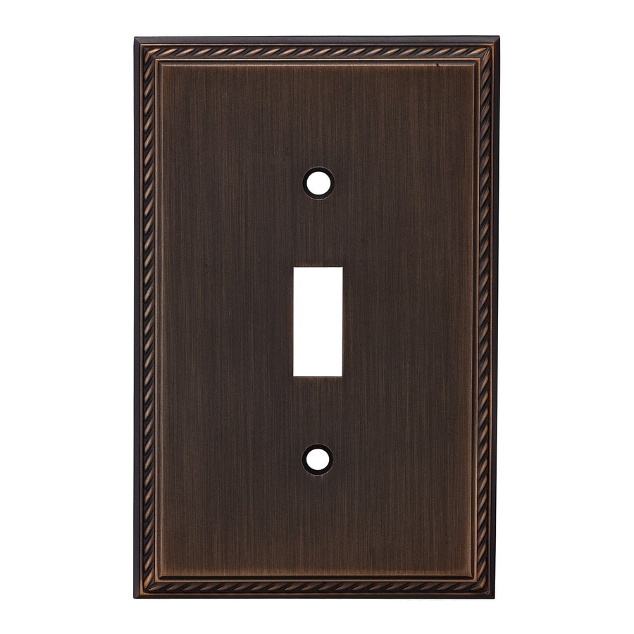 allen + roth 1-Gang Oil-Rubbed Bronze Toggle Wall Plate