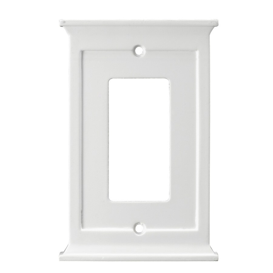allen + roth 1-Gang White Decorator Wall Plate