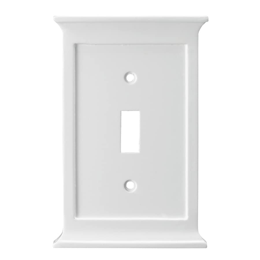 allen + roth 1-Gang White Toggle Wall Plate