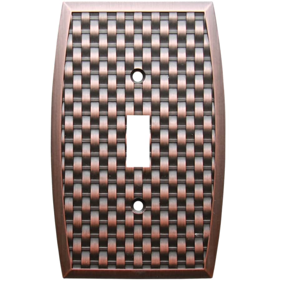 allen + roth 1-Gang Dark Oil-Rubbed Bronze Toggle Wall Plate