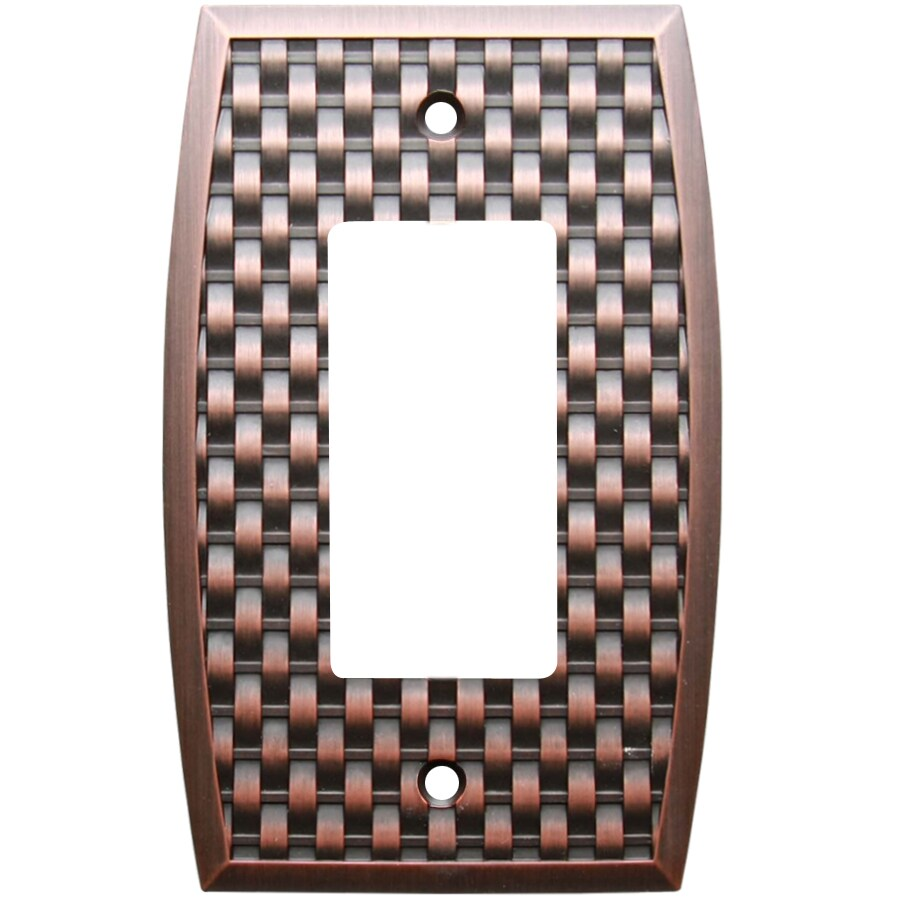 allen + roth 1-Gang Dark Oil-Rubbed Bronze Decorator Wall Plate