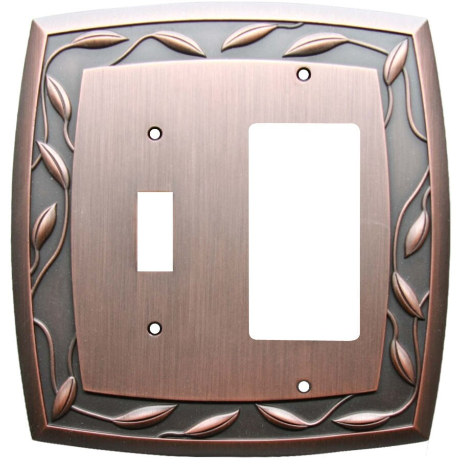 Allen Roth Eastview Double Toggle Wall Plate Oil-Rubbed Bronze