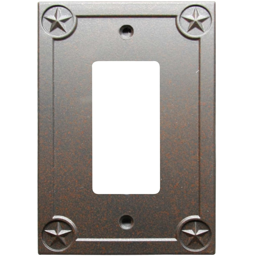 Style Selections 1-Gang Rust Decorator Wall Plate