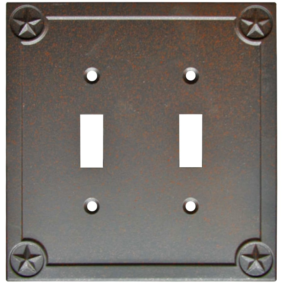 Style Selections 2-Gang Rust Toggle Wall Plate