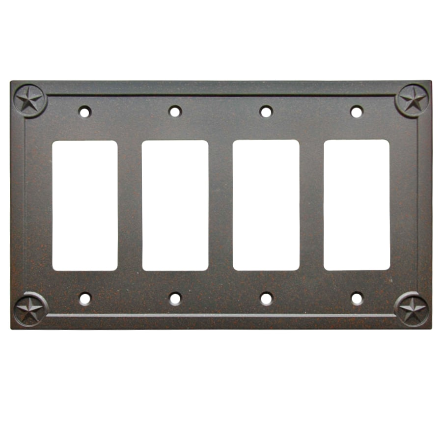 allen + roth 4-Gang Rust Decorator Wall Plate