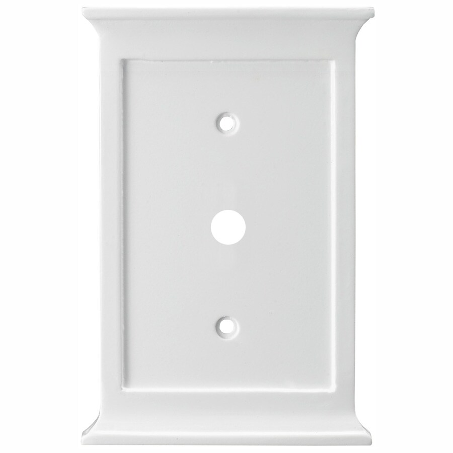 allen + roth 1-Gang White Coaxial Wall Plate