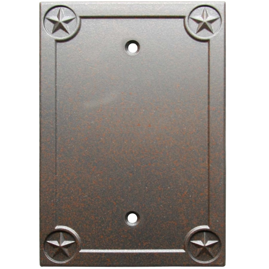 Style Selections 1-Gang Rust Blank Wall Plate