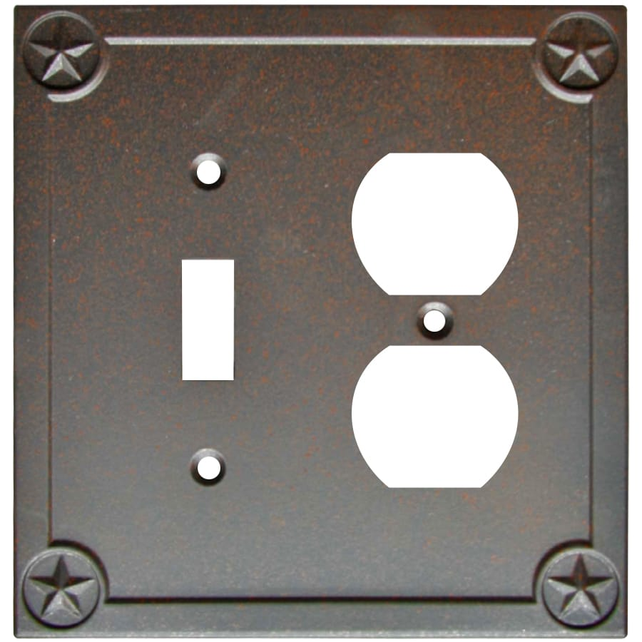 Style Selections 2-Gang Rust Wall Plate