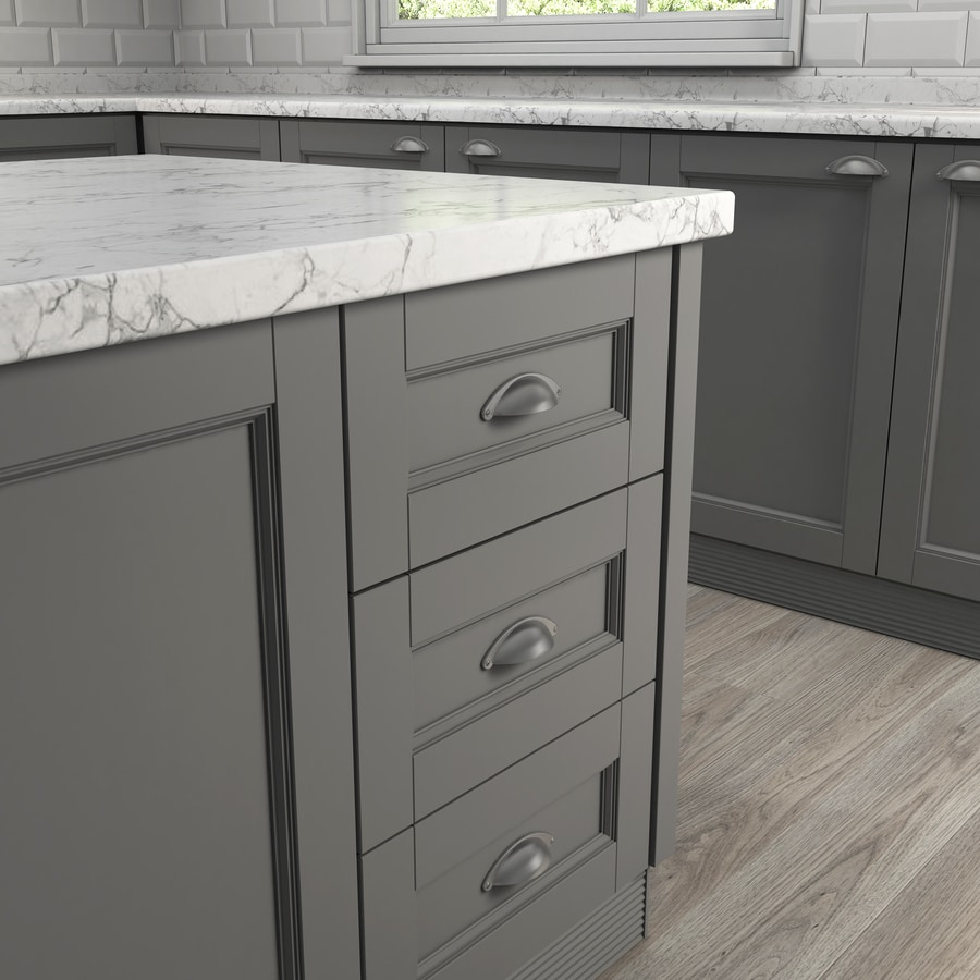 Style Selections 64mm Center-To-Center Satin Nickel and Black Cup Cabinet Pull