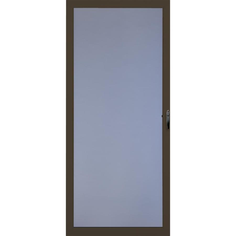 Comfort-Bilt Brown Full-View Safety Aluminum Glass and Interchangeable Screen Storm Door (Common: 32-in x 81-in; Actual: 31.875-in x 80-in)
