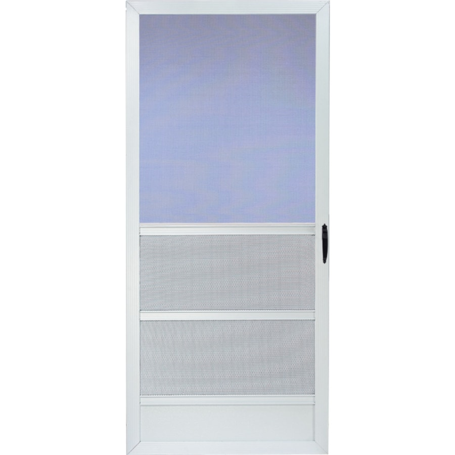 Comfort-Bilt Palm Beach White Aluminum Hinged Screen Door (Common: 32-in x 81-in; Actual: 31.875-in x 80-in)