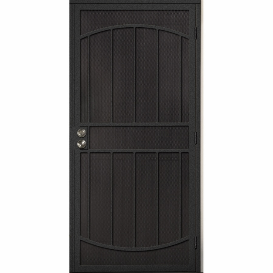 Shop gatehouse gibraltar silver steel security door for Metal security doors