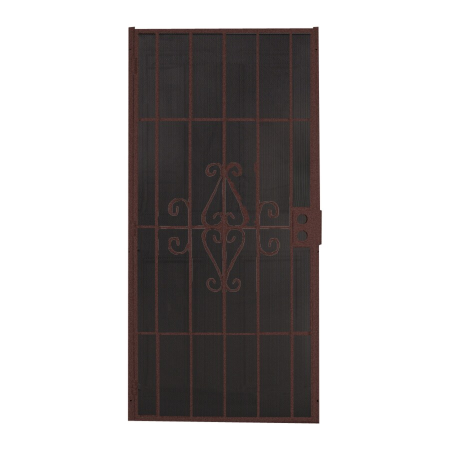 Shop Comfort Bilt Magnum Bronze Steel Security Door