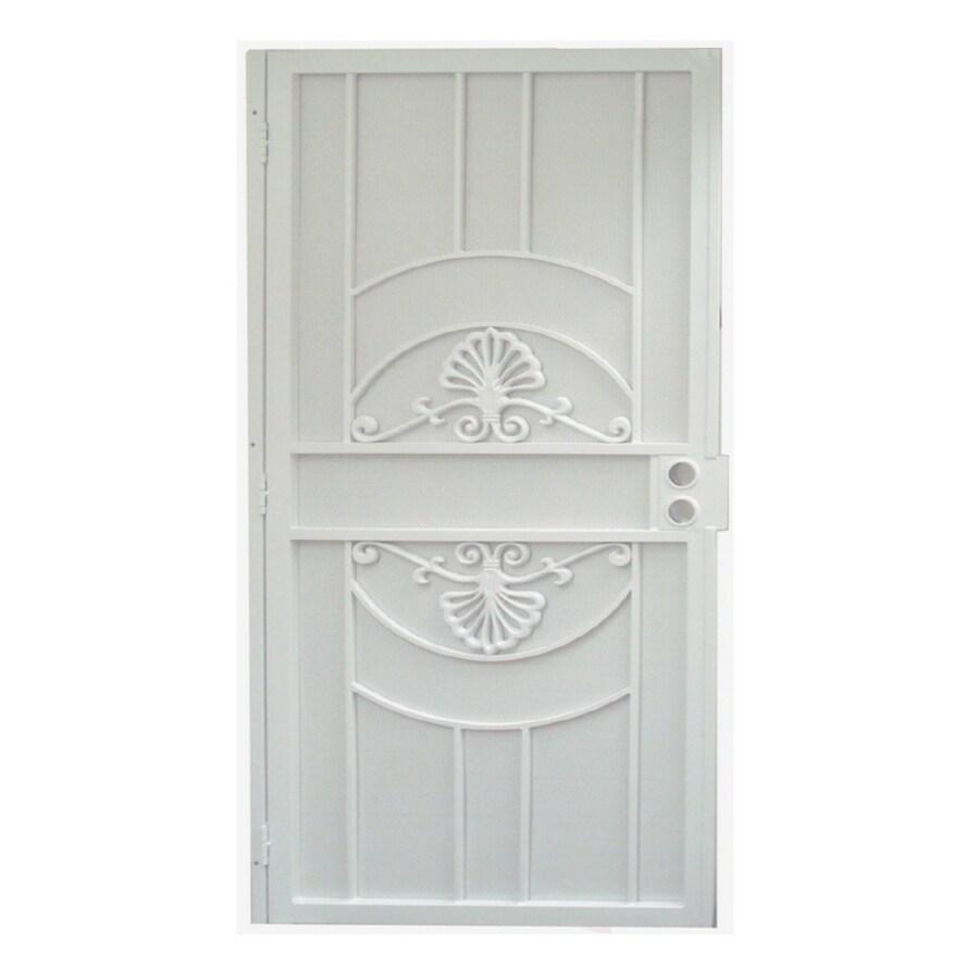 Gatehouse Alexandria White Steel Security Door (Common: 36-in x 81-in; Actual: 39-in x 81.75-in)