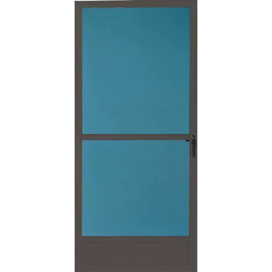 Comfort-Bilt Seaside Brown Aluminum Hinged Screen Door (Common: 32-in x 80-in; Actual: 31-in x 79.25-in)