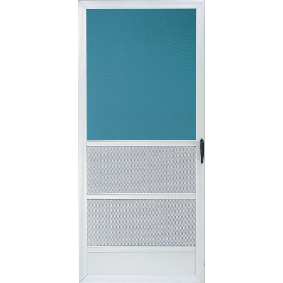 Comfort-Bilt Oceanview White Aluminum Hinged Screen Door (Common: 36-in x 80-in; Actual: 35-in x 79.25-in)