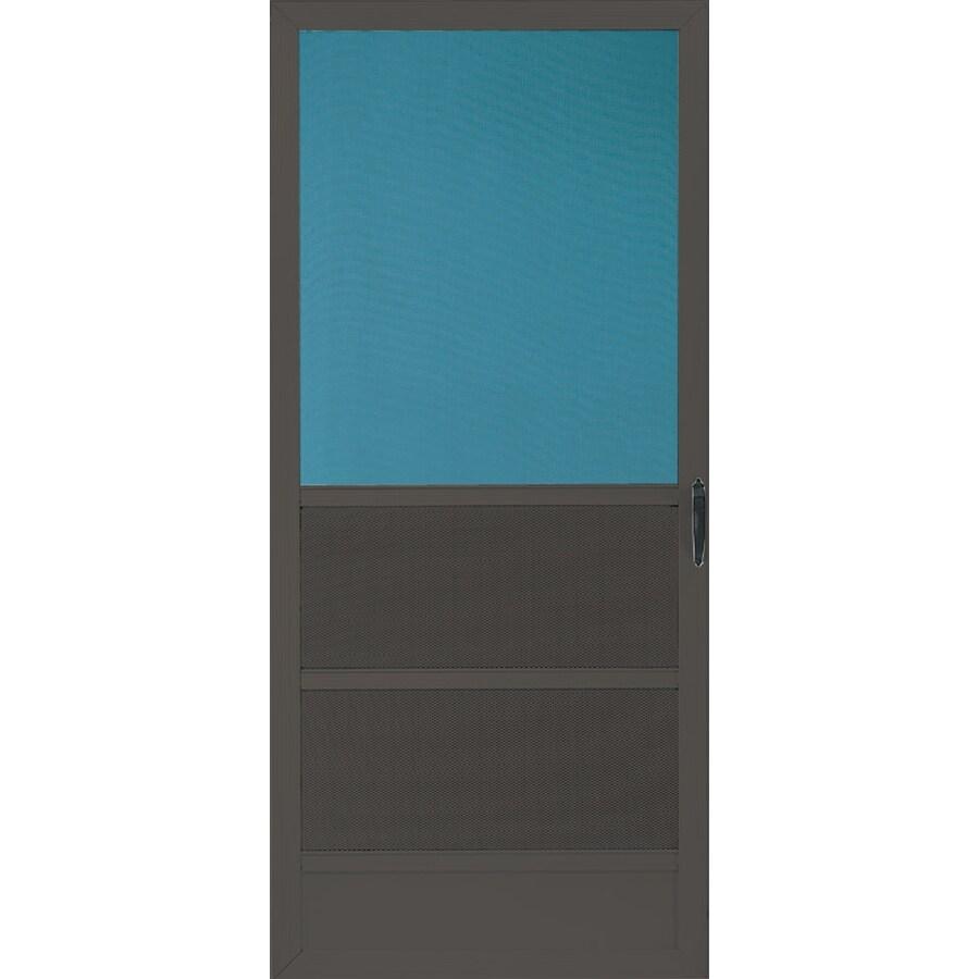 Comfort-Bilt Oceanview Brown Aluminum Hinged Screen Door (Common: 36-in x 80-in; Actual: 35-in x 79.25-in)