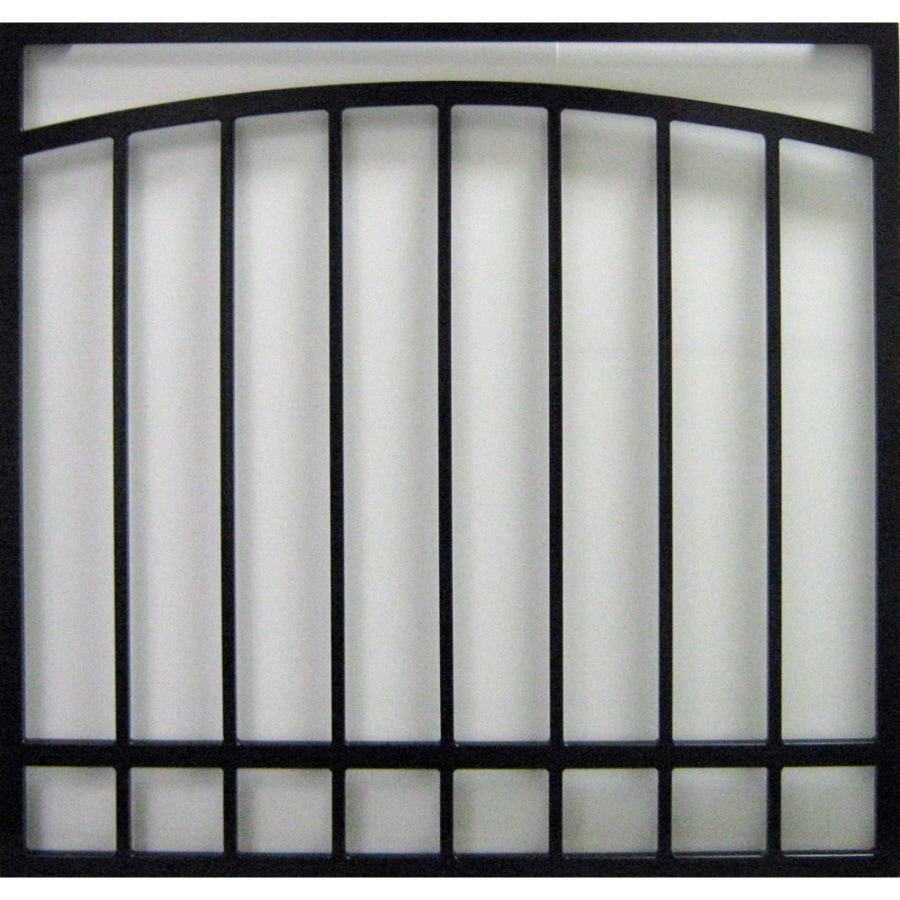 Gatehouse 48-in Black Arched Window Security Bar