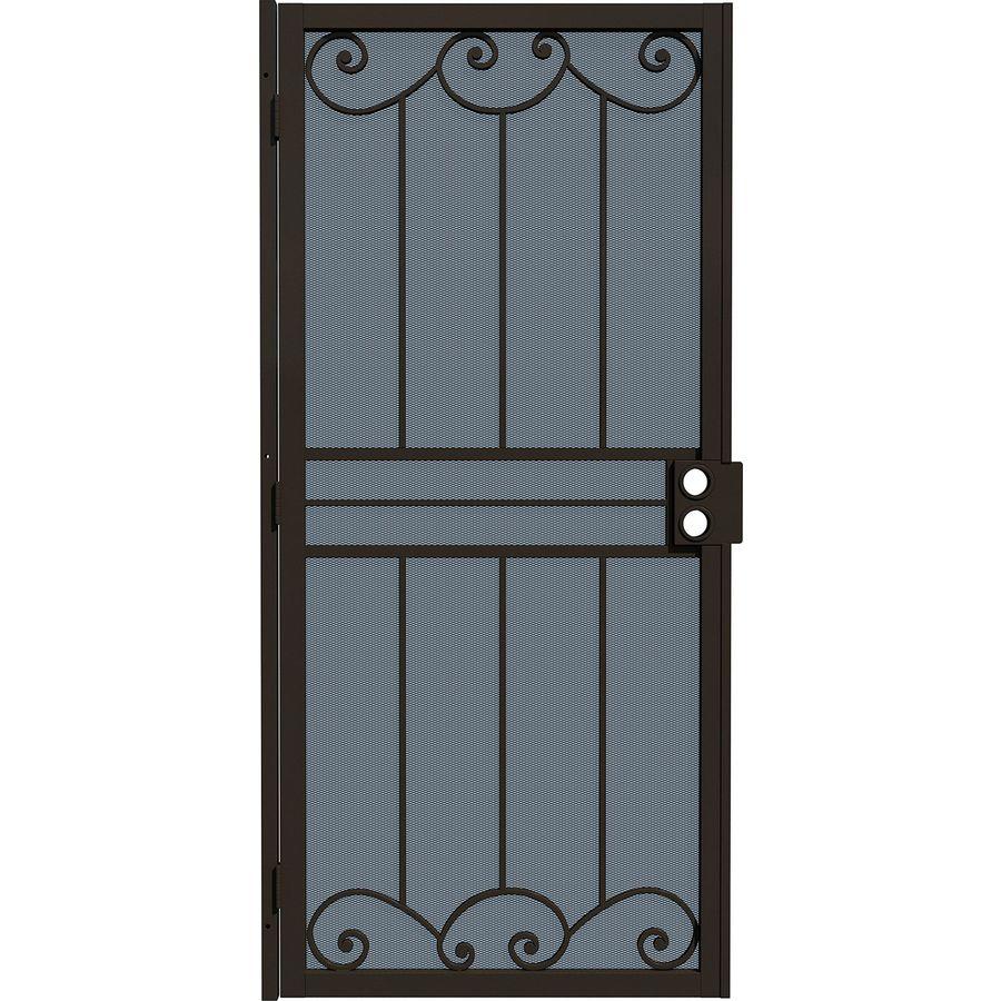 Gatehouse Sonoma Bronze Steel Security Door (Common: 36-in x 80-in; Actual: 39-in x 81.75-in)