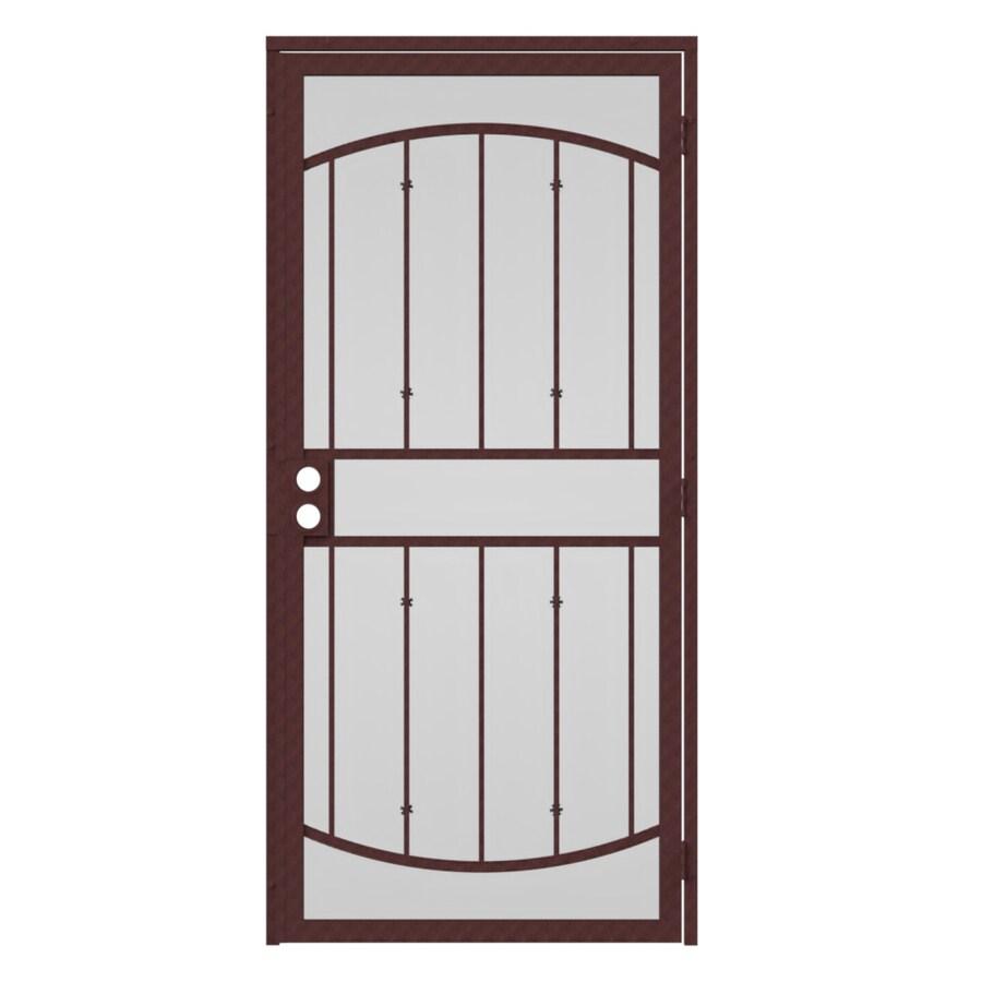 Gatehouse Gibraltar Bronze Steel Security Door (Common: 36-in x 96-in; Actual: 39-in x 97.75-in)