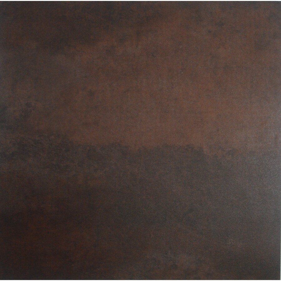 Style Selections 12-in x 12-in Rust Stained Peel-and-Stick Concrete Residential Vinyl Tile