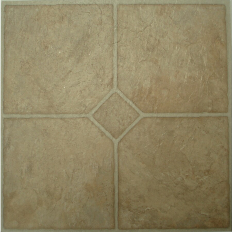 Style Selections 45-Piece 12-in x 12-in Chatsworth Peel-and-Stick Residential Vinyl Tile